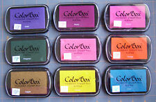 COLORBOX PIGMENT STAMP INK PAD ~ FOR RUBBER STAMPS  ~ YOUR CHOICE ~ GUC