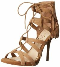 Jessica Simpson Womens Bregan Leather Open Toe Casual Ankle Strap Sandals