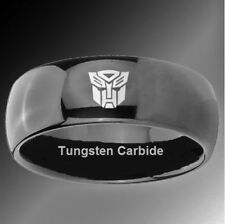 Transformers AUTOBOT Etched Logo Tungsten Carbide Ring (Size 10)