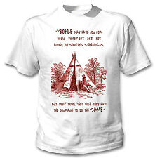 AMERICAN NATIVE INDIAN HATE YOU - NEW COTTON WHITE TSHIRT