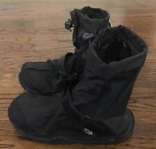 Unisex Neos Overshoes Black Waterproof Slip-on Adhesive Strap Size Small NEW