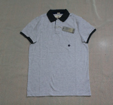 NWT Hollister by Abercrombie men Stretch Pique Polo shirt M, L Gray
