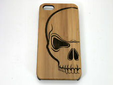 Skull iPhone Case. Scary Human Skull Bones Tattoo. Biker Harley Pirate Gift.