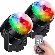 2-Pack Sound Activated Party Lights with Remote Control Dj Lighting RBG Disco 7