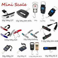 1-10g 50Kg Mini Digital Scale Electronic Hanging Luggage Balance Weight LM
