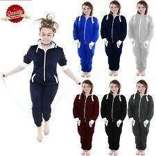 ALL IN ONE Hooded Onesie New Boys Kids Girls Not Gerber Jumpsuit Playsuit 7-13Yr