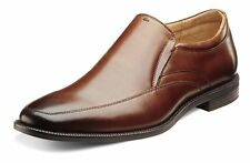 Florsheim Mens Forum Moc Leather Square Toe Slip On Shoes, Brown, Size 12.0 x5S0