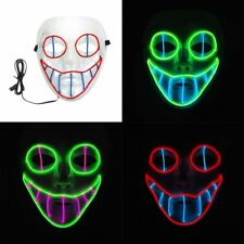LED Face Mask Luminous mask Party Light Up Masks Dance Halloween Cosplay LH
