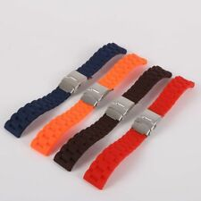 Rubber Silicon Watch Band 16-24mm Wristwatch band Strap Replacement Watch Strap