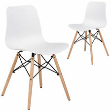 NEW Set of 2 Beech Tao Dining Chairs Temple & Webster Dining Chairs