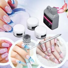 Chic Portable Nail Art Tool Kit Set Crystal Powder Acrylic Liquid Dappen Dish 2Y