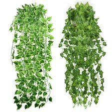 Artificial Ivy Leaf Garland Plants Vine Fake Foliage Flowers for Wedding Home