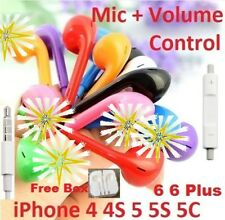 Colorful Headphones Earphones Mic Remote for Apple iPhone 5 5S 6 Plus iPad iPod