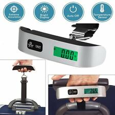 50kg/10g Portable Travel LCD Digital Hanging Luggage Scale Electronic Weight@