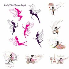 Flower Fairy Bicycle Decal Art Mural Wall Sticker Removable Home Room Decor