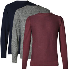 Marks & Spencer Mens Cotton Blend Crew Neck Soft Knitted New M&S Jumper Top