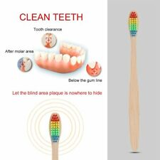 Environment Rainbow Bamboo Toothbrush Oral Care with Soft Bristle Unisex QK
