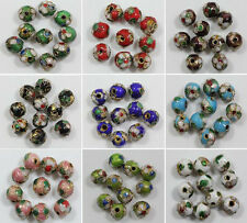 20/50pcs Cloisonne Enamel Round Spacer Loose Bead Jewelry Finding 6/8mm
