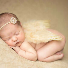 Newborn Baby Infant Headband+Feather Angel Wings Photo Photography Prop Costume