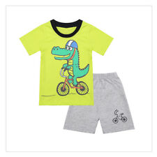 Baby Boys Summer 2Pcs Playsuit Outfit Kid Toddler T-shirt with Shorts Set 18M-7Y