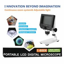 G600 Portable LCD Display 600X Magnification HD Electronic Digital Microscope SY
