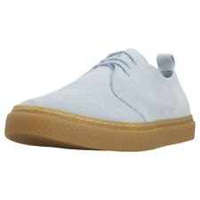 Fred Perry Linden Mens Pastel Blue Suede Trainers