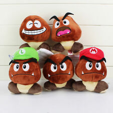 Super Mario Bros Plush Toy Soft Doll Goomba With Mario & Luigi Hat Doll