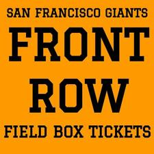 FRONT ROW TICKETS · SAN FRANCISCO GIANTS vs CHICAGO CUBS · AT&T PARK · JULY 9