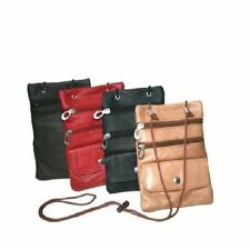 Leather Travel Neck Pouch Holder Passport Id Wallet
