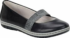 B.O.C Womens Kalani Leather Round Toe Mary Jane Flats