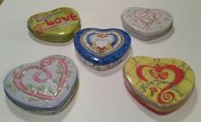 """♡U CHOOSE♡ BRIGHTON® """"LARGE"""" COLLECTIBLE HEART SHAPED METAL TINS CONTAINERS"""
