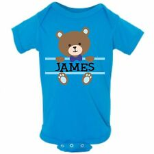 Baby Bear Face Boy Name Infant Bodysuit or T-shirt ~ Personalized