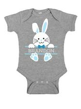 Baby Bunny Rabbit Face Boy Name Infant Bodysuit or T-shirt ~ Personalized