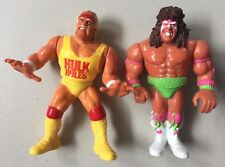 WWF HASBRO HULK HOGAN & ULTIMATE WARRIOR Loose Used WWE Wrestling Figures