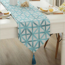 Cotton Linen Table Runner Four Color Grid Styles Table Runner Simple Beautiful