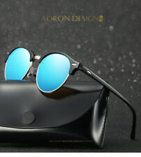 Polarized Women Mens Round Sunglasses Eyewear Shades Outdoor Vintage Eye Glasses