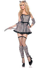 NWT SEXY PERSIAN LEOPARD KITTY CAT Halloween Party Costume
