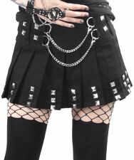 Women Gothic Skirt Silver Chains Skirt Punk Handcuffs Chain Metal Rock Skirt