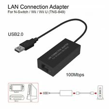 USB Ethernet LAN Adapter Cable Internet Network For Nintendo Switch/ Wii / Wii N