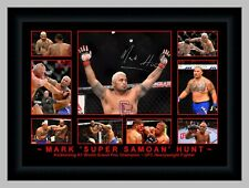 MARK HUNT KICKBOXING CHAMPION UFC MMA FIGHTER A3 COLLAGE SIGNED PHOTO COLLAGE