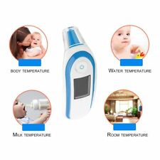 LCD Digital IR Thermometer Infrared Forehead Ear Temperature Meter Baby Adult MU