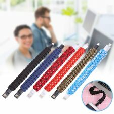 Outdoor Wristband Bracelet Micro USB Data Charging Cable For Andriod Phones