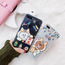 Cute Brown Bear Animals TPU Silicone Phone Case Cover For iPhone X 8 7 6 Plus