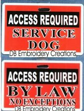 ACCESS REQUIRED SERVICE DOG vest clip use in place of patch optional ADA