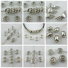 Antique Silver Crafts Spacer Beads Charms Jewelry Making