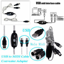 2M USB IN-OUT MIDI Interface Cable Converter PC to Music Keyboard Adapter Cord