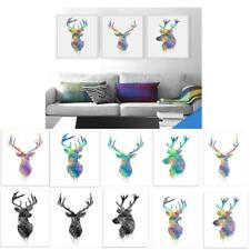 50x70cm Nordic Elk Art Oil Painting Canvas Picture Wall Home Room Decor