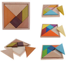 New Wooden Tangram Toy Jigsaw Puzzle Brain Teaser Game Kids/Baby Early Learning