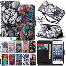 Diamond Magnetic Flip Leather Wallet Stand Case Cover For iPod Touch 5th 6th Gen