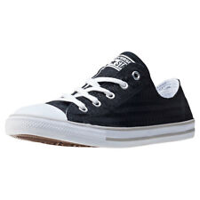 Converse Chuck Taylor All Star Dainty Womens Black White Canvas Trainers